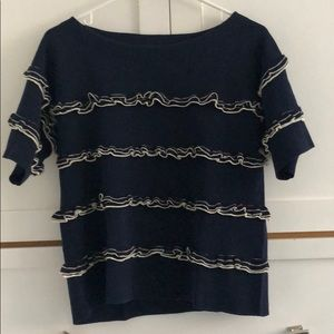 A short sleeve knit top